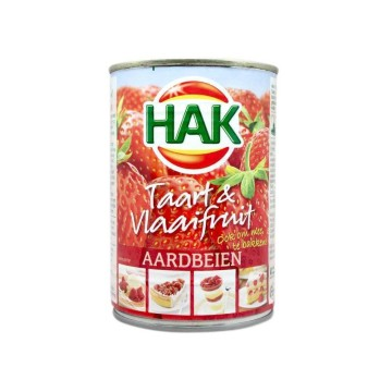 Hak Taart&Vlaaifruit Aardbeien 430g/ Strawberry Filling
