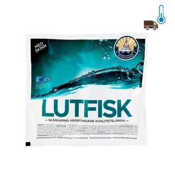 Skärhamns Lutefisk med Skinn 1Kg/ Cod with Skin