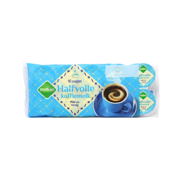 Melkan Halfvolle Koffiemelk Cups x10/ Milk Capsules