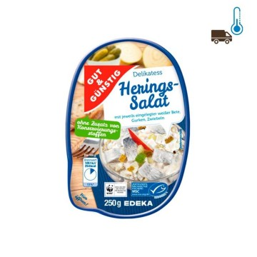 Gut&Günstig Herings Salat Zwiebeln 250g/ Herring Salad