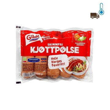 Gilde Kjøttpølse Skinnfri 450g/ Skinless Sausage