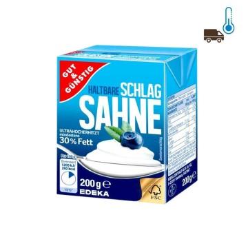 Gut&Günstig Haltbare Schlagsahne 30% Fett 200g/ Low Fat Whipping Cream