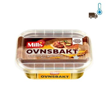 Mills Ovnsbakt Leverpostei 185g/ Oven Cooked Pork Liver Patée