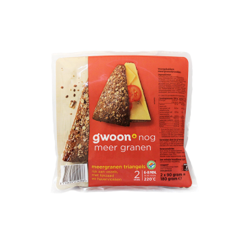 Gwoon Triangels Meergranen 180g/ Pan Multicereal