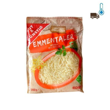 Gut&Günstig Emmentaler Gerieben 45% Fett 200g/ Grated Cheese