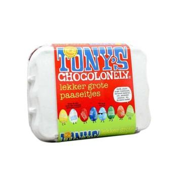 Tony's Chocolonely Lekker Grote Paaseitjes 12x13,5g/ Mix de Huevos de Chocolate