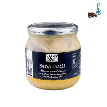 Klades Holmen Senapssill 550g/ Herrings in Mustard Sauce