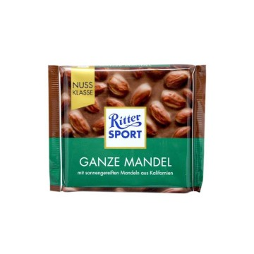 Ritter Sport Ganze Mandel 100g/ Chocolate with Whole Almonds