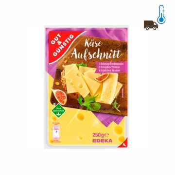 Gut&Günstig Käse-Aufschnitt 250g/ Queso Lonchas