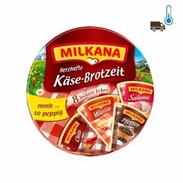 Milkana Herzhafte Käse-Brotzeit x8 200g/ Porciones de Queso de Untar Picantes