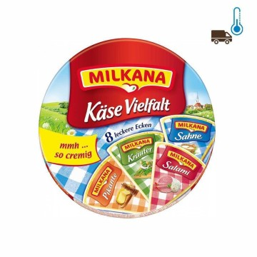 Milkana Käse Vielfalt x8 200g/ Cheese Spread Mix