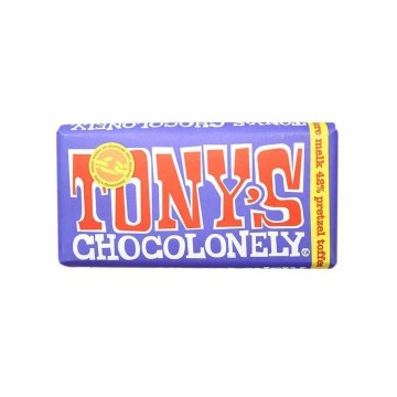 Tony's Chocolonely 42% Melk, Pretzel, Toffee 180g/ Milk Chocolate with Pretzels and Toffee