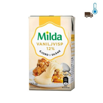 Milda Vanilj Visp 12% 250ml/ Vanilla Flavoured Whipped Cream