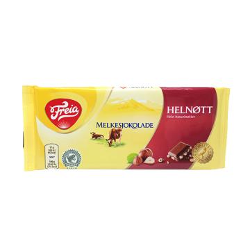 Freia Melkesjokolade Helnøtt 100g/ Chocolate con Leche Avellanas enteras