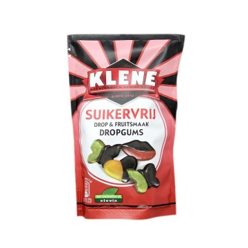 Klene Suikervrij Drop & Fruitsmaak Dropgums 100g/ Fruit&Licorice Gummies