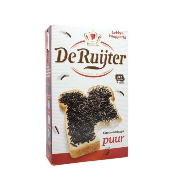 De Ruijter Chocoladehagel Puur 380g/ Dark Chocolate Sprinkles