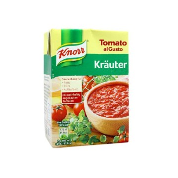 Knorr Tomato al Gusto Kräuter 356ml/ Tomate Frito con Hierbas