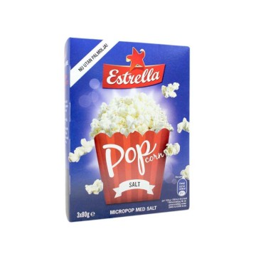 Estrella Micropop Med Salt x3 80g/ Microwave Popcorn