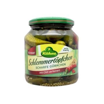 Kühne Schlemmertöpfchen Scharfe Gürkchen 530g/ Spicy Pickles