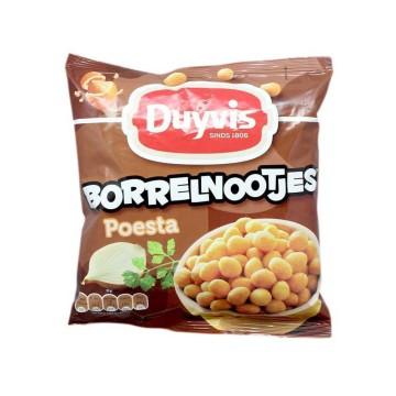 Duyvis Borrelnootjes Poesta 300g/ Cacahuetes Crujientes Sabor Cebolla y Hierbas