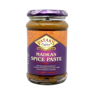 Patak's Madras Spice Paste Hot 283g/ Salsa Madras