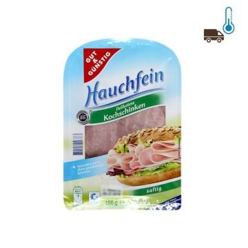 Gut&Günstig Hauchfein Delikatess Kochschinken Saftig 150g/ Sliced Cooked Ham