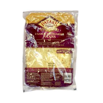 Patak's Garlic & Coriander Naans x2/ Pan Naan Ajo & Cilantro