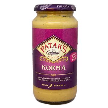 Patak's Korma Sauce Mild 450g/ Salsa Korma