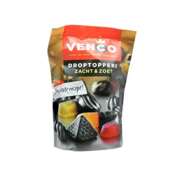 Venco Droptoppers Zacht & Zoet 287g/ Licorice Candies Mix