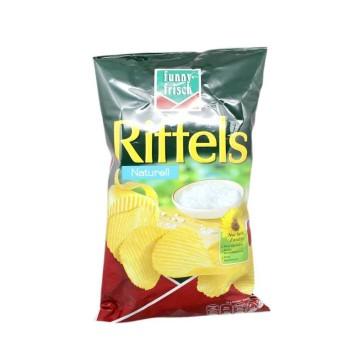 Funny-Frisch Riffels Naturell 150g/ Patatas Fritas Onduladas