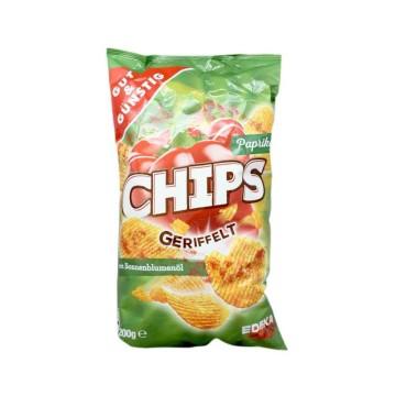 Gut&Günstig Paprika Chips Geriffelt 200g/ Patatas Onduladas
