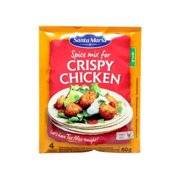 Santa Maria Crispy Chicken Seasoning Mix 50g/ Mix para Pollo Crujiente