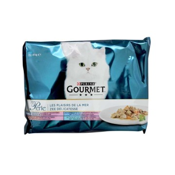 Purina Gourmet Perle Vis 4x85g/ Cat food Fish Mix