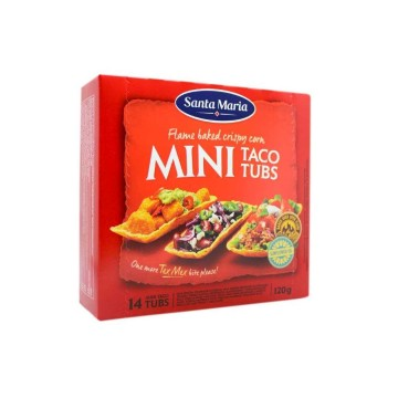 Santa Maria Mini Taco Tubs 120g/ Mini Tacos Crujientes
