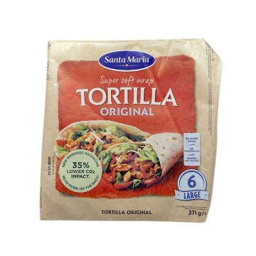 Santa Maria Tortilla Original Large x6 371g/ Tortillas Mexicanas Grandes