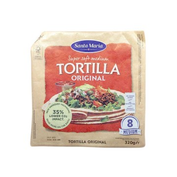 Santa Maria Tortilla Original Medium x8 320g/ Tortillas Mexicanas Medianas