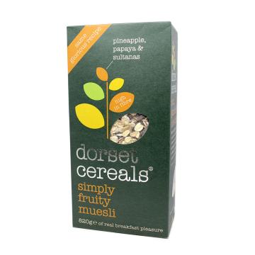 Dorset Cereals Simply Fruity Muesli 630g/ Cereales con Frutas y Muesli