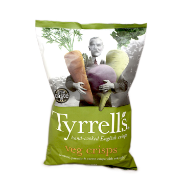 Tyrell's Veg Crisps 150g/ Patatas fritas Vegetarianas