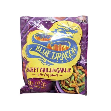 Blue Dragon Sweet Chili & Garlic Sauce 120g/ Salsa Chile dulce con Ajo