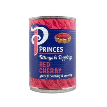 Princes Red Cherry Fruit Filling 410g/ Relleno Cerezas Rojas