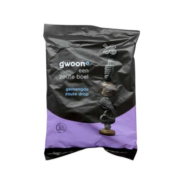 Gwoon Gemengde Zoute Drop 400g/ Salty Licorice Mix
