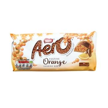 Nestlé Aero Festive Orange 100g/ Chocolate con Burbujas y Naranja