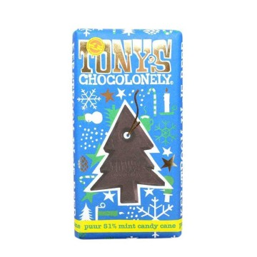 Tony's Chocolonely Puur 51% Mint Candy Cane 180g