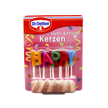 Dr.Oetker Happy Birhtday Kerzen/ Happy Birthday Candles