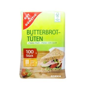 Gut&Günstig Butterbrottüten x100/ Sandiwch Bags