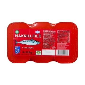 Favorit Makrillfilé i Tomatsås 3x125g/ Filetes de Caballa en Salsa de Tomate
