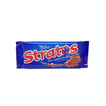 Nidar Stratos 65g/ Chocolate with Bubbles Bar