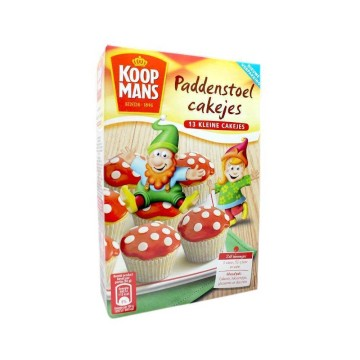 Koopmans Paddenstoel Cakejes Mix 220g/ Mix for Cupcakes