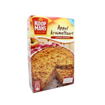 Koopmans Appelkruimeltaart 410g/ Apple Crumble Cake Mix