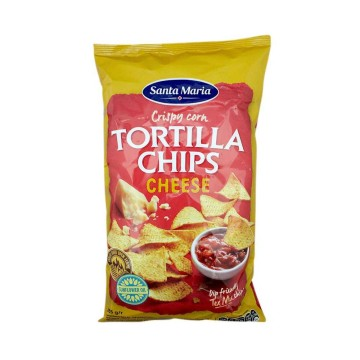 Santa Maria Tortilla Chips Cheese 185g/ Tortillas de Maíz sabor Queso